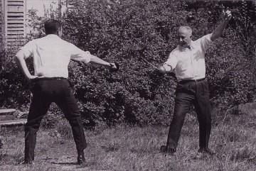 Duel entre le député socialiste Gaston Deffere et le député gaulliste René Ribière