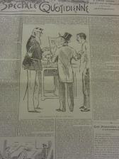 Gérard Harry accueillant le roi au stand de son journal