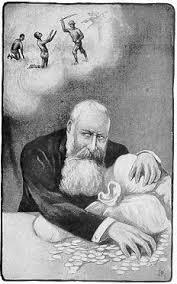 Caricature de Léopold II parue dans le journaux de l'époque